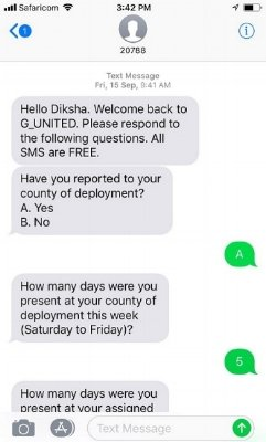 Sample survey conducted on Echo Mobile